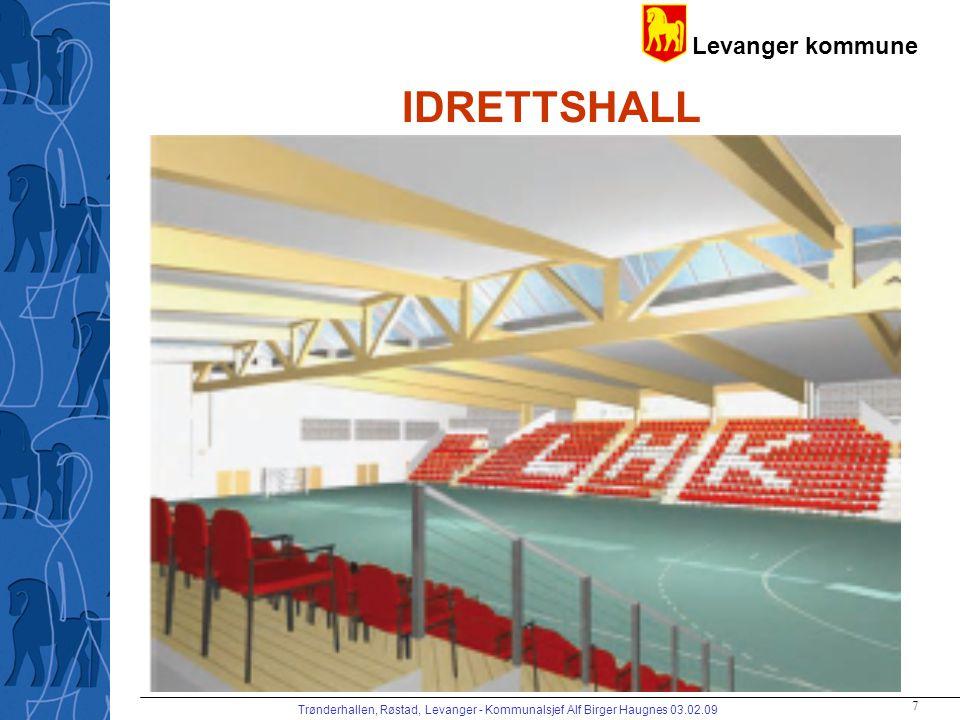 IDRETTSHALL Trønderhallen, Røstad, Levanger - Kommunalsjef Alf Birger Haugnes 03.02.09
