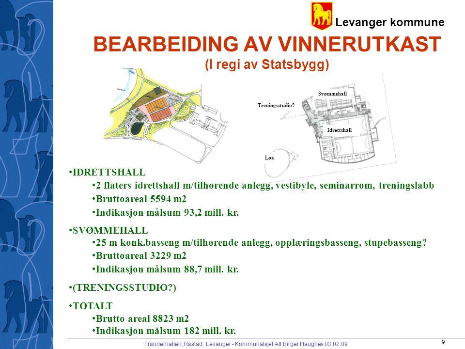 BEARBEIDING AV VINNERUTKAST (I regi av Statsbygg)