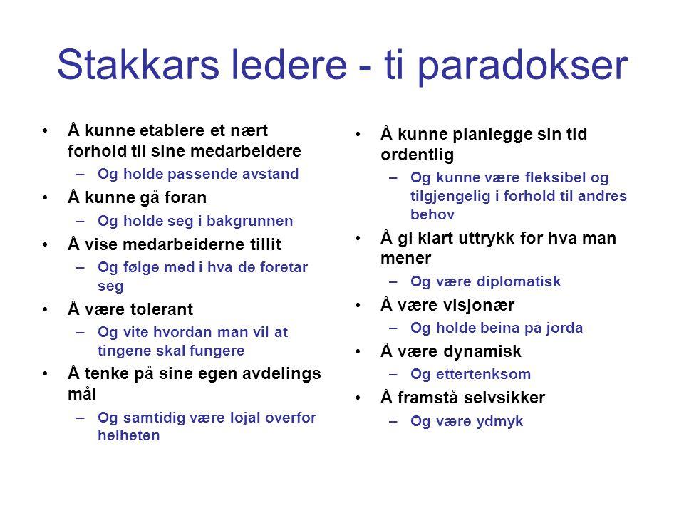 Stakkars ledere - ti paradokser