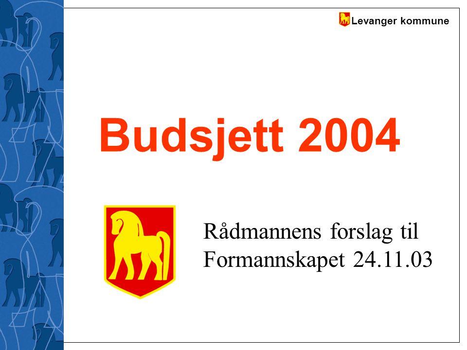 Budsjett 2004 Rådmannens forslag til Formannskapet 24.11.03