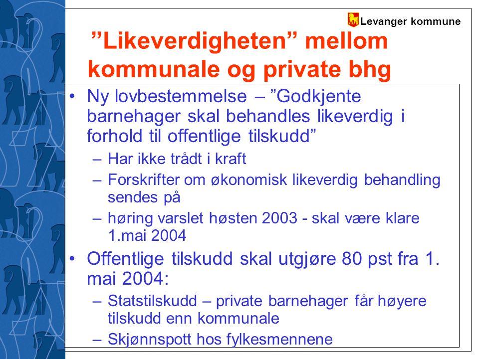 Likeverdigheten mellom kommunale og private bhg