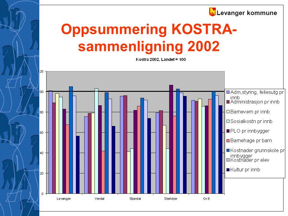 Oppsummering KOSTRA-sammenligning 2002