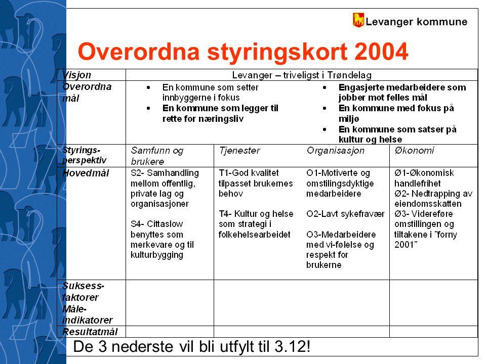 Overordna styringskort 2004