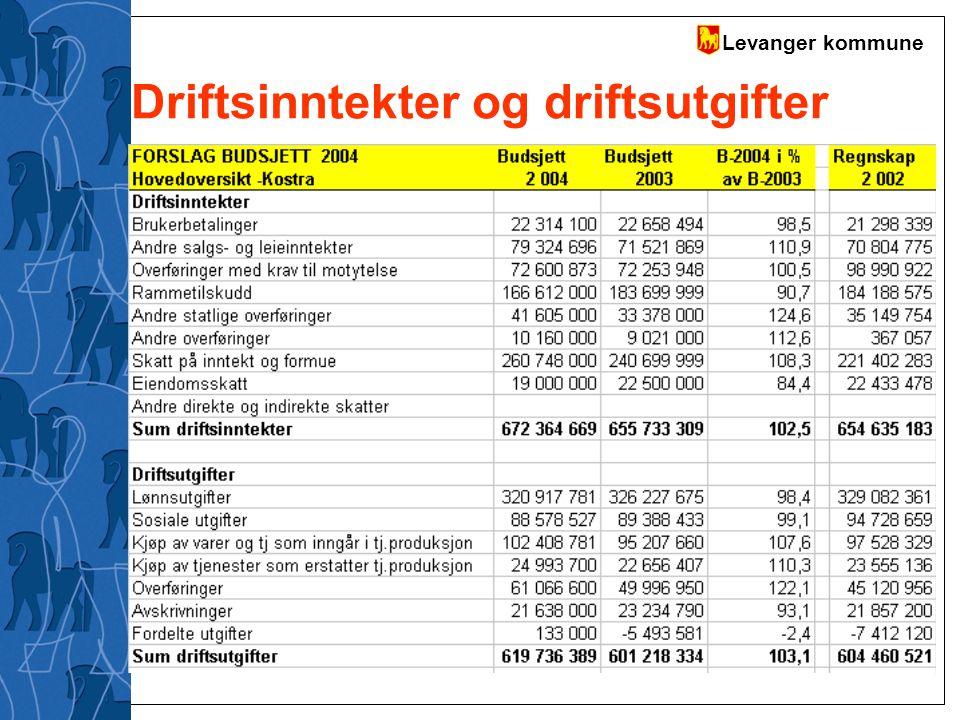 Driftsinntekter og driftsutgifter