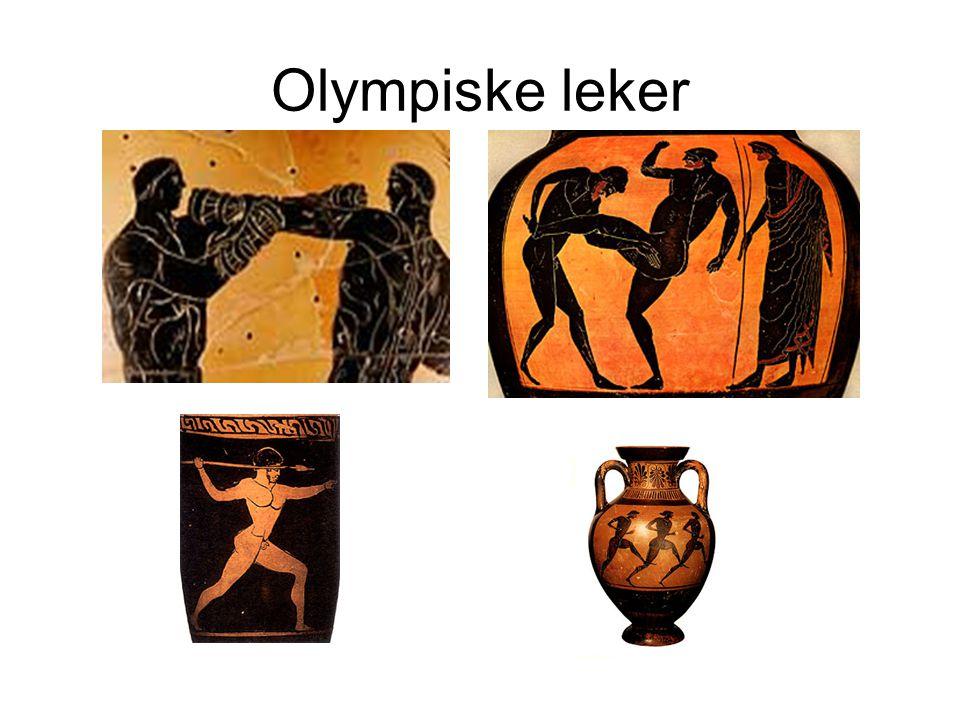 Olympiske leker Olympiske leker – Ble forbudt etter at romernes maktovertakelse I Hellas.