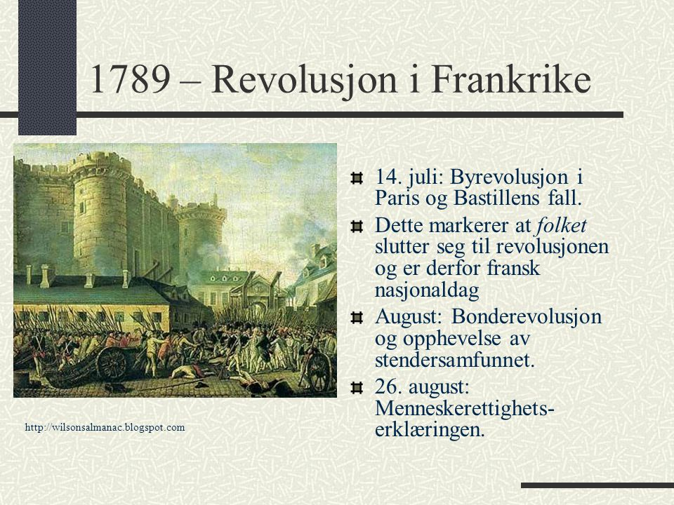 1789 – Revolusjon i Frankrike