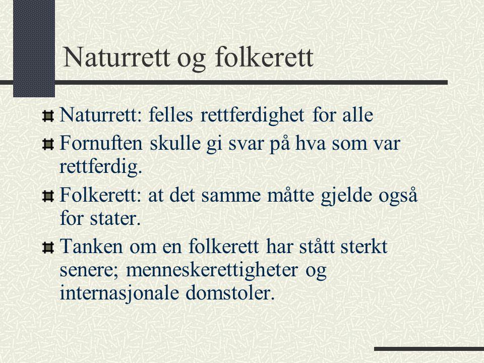 Naturrett og folkerett