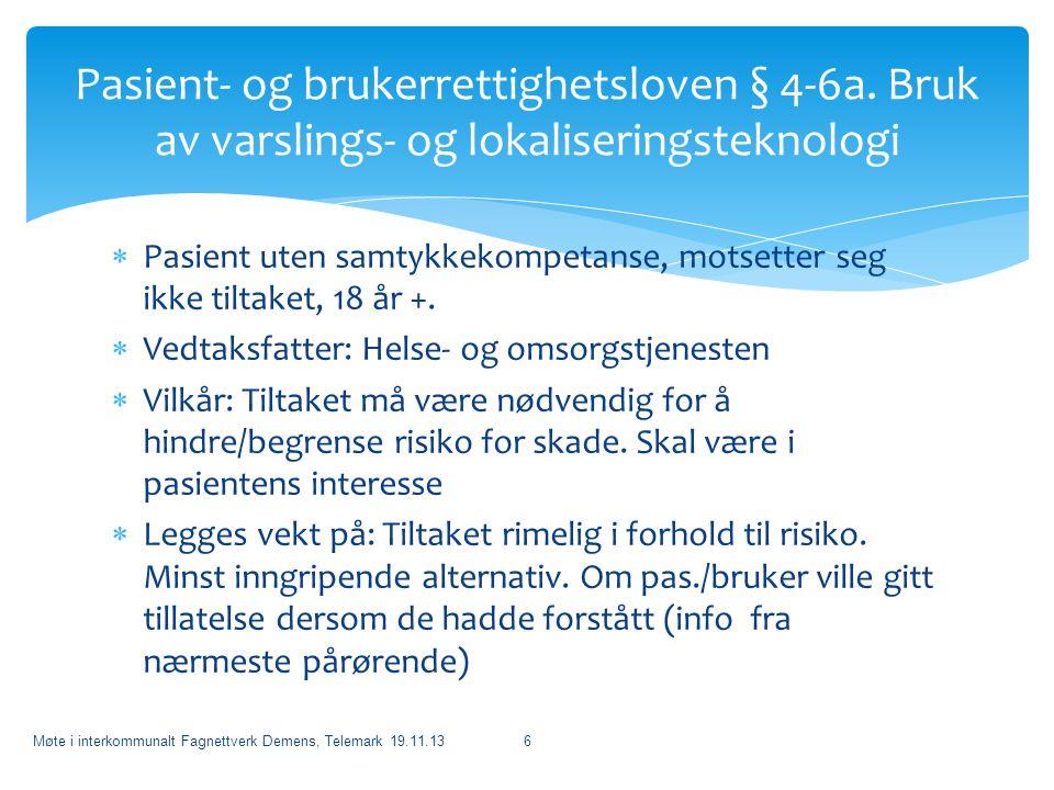 Pasient- og brukerrettighetsloven § 4-6a