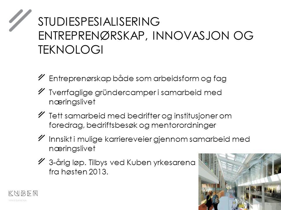 Studiespesialisering entreprenørskap, innovasjon og teknologi
