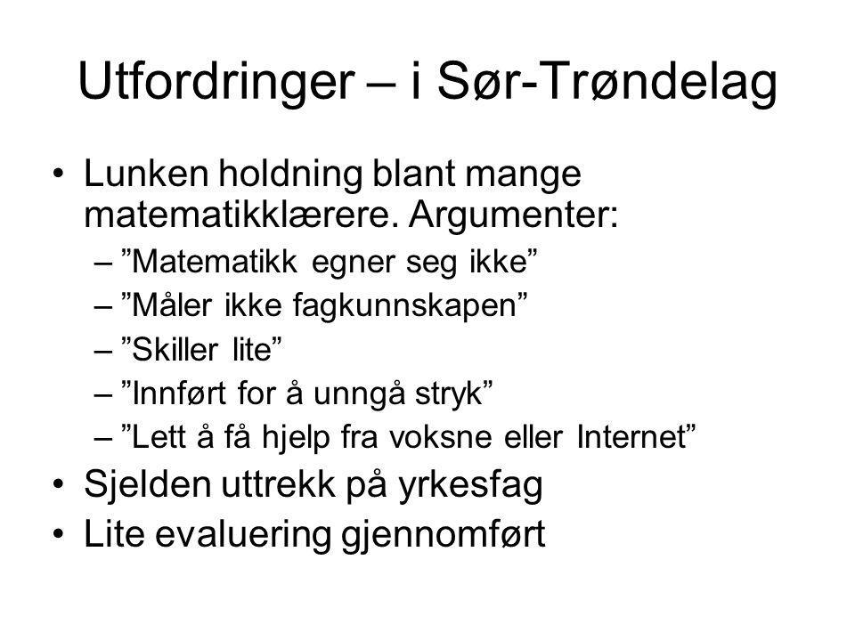 Utfordringer – i Sør-Trøndelag