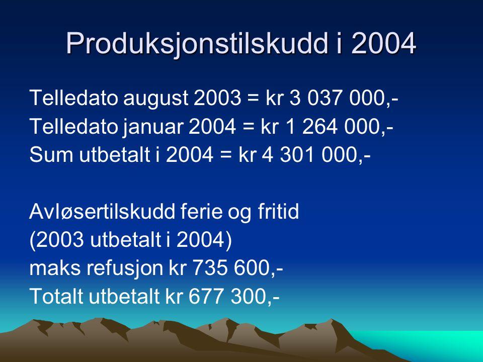 Produksjonstilskudd i 2004