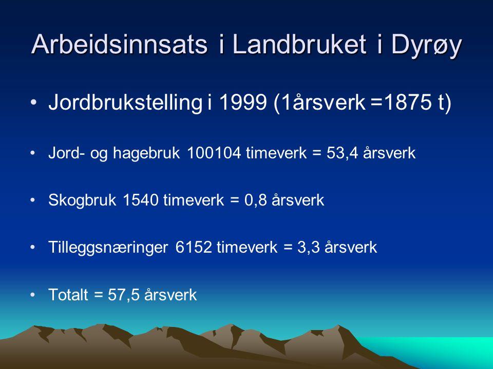 Arbeidsinnsats i Landbruket i Dyrøy