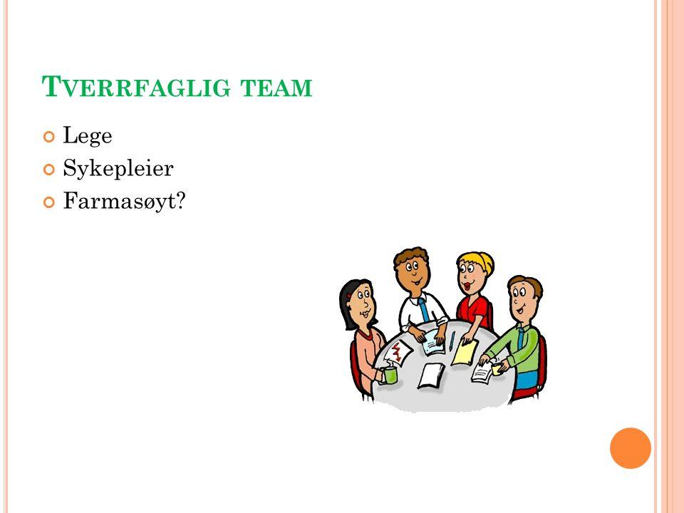 Tverrfaglig team Lege Sykepleier Farmasøyt