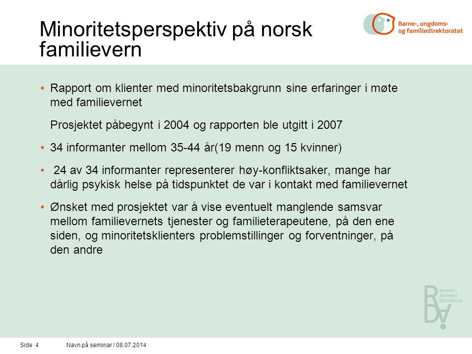 Minoritetsperspektiv på norsk familievern