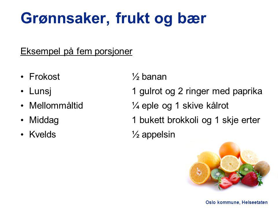 Grønnsaker, frukt og bær