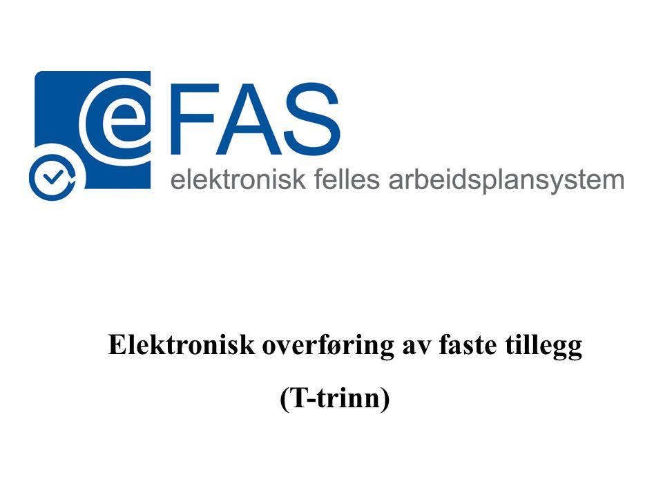 Elektronisk overføring av faste tillegg