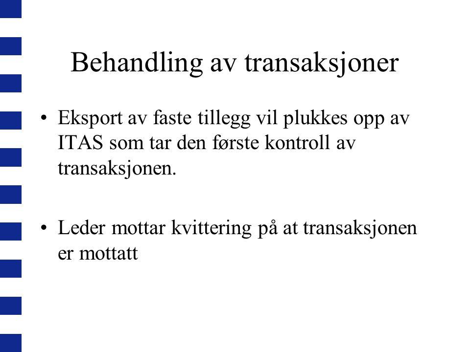 Behandling av transaksjoner
