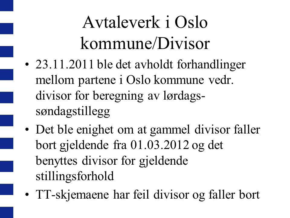 Avtaleverk i Oslo kommune/Divisor
