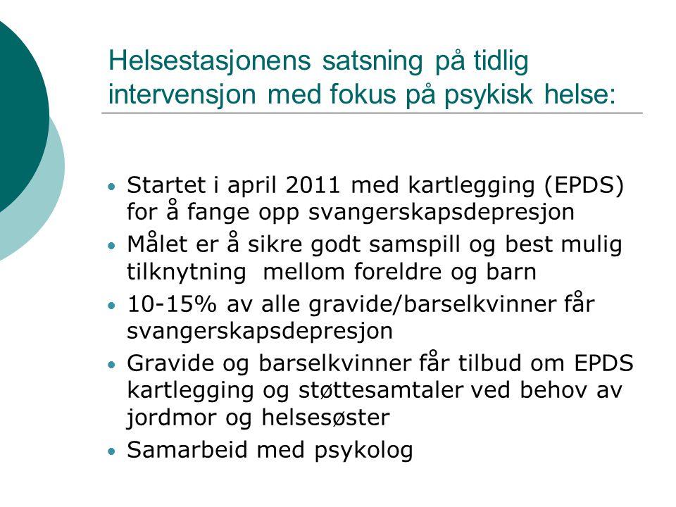 Helsestasjonens satsning på tidlig intervensjon med fokus på psykisk helse: