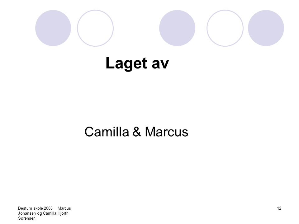 Laget av Camilla & Marcus