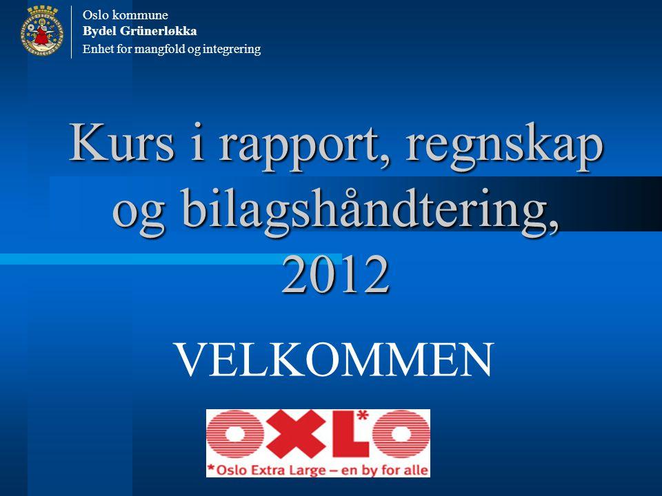 Kurs i rapport, regnskap og bilagshåndtering, 2012