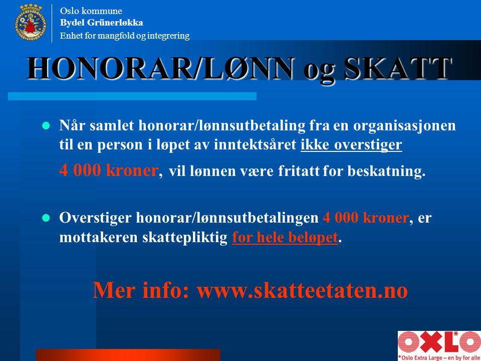 Mer info: www.skatteetaten.no