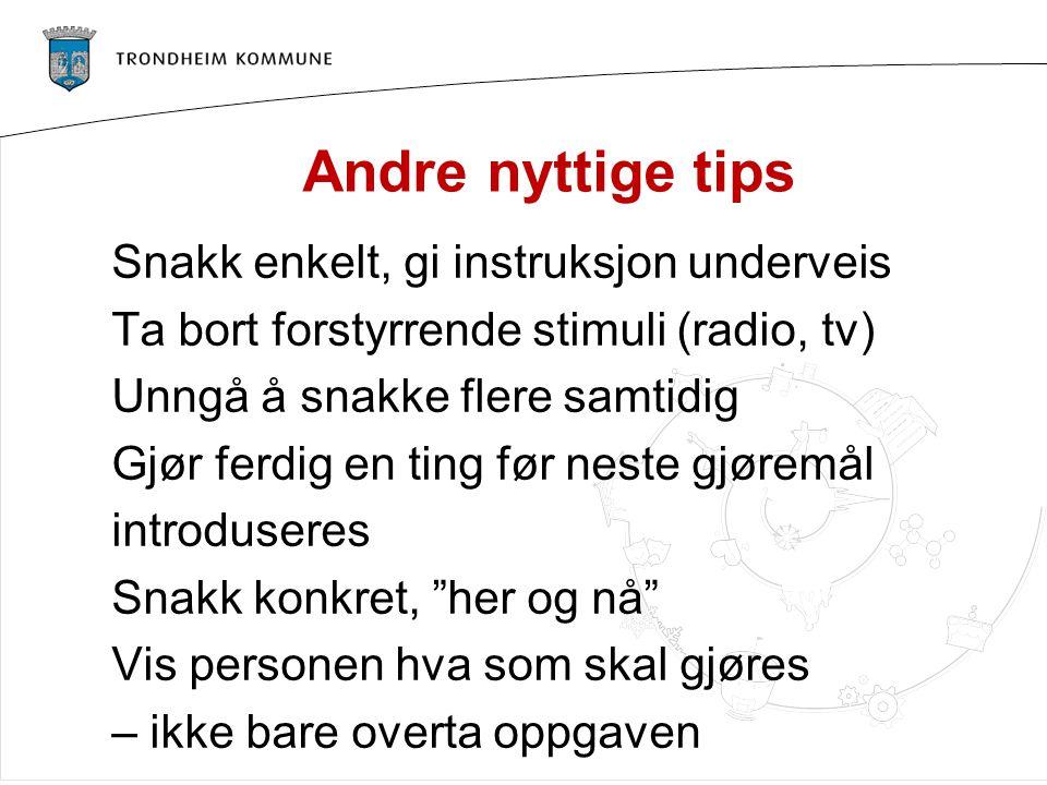 Andre nyttige tips