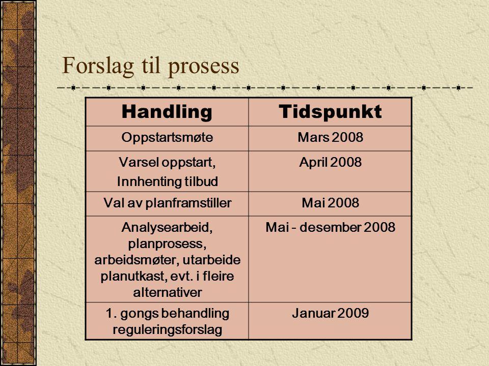 Val av planframstiller 1. gongs behandling reguleringsforslag