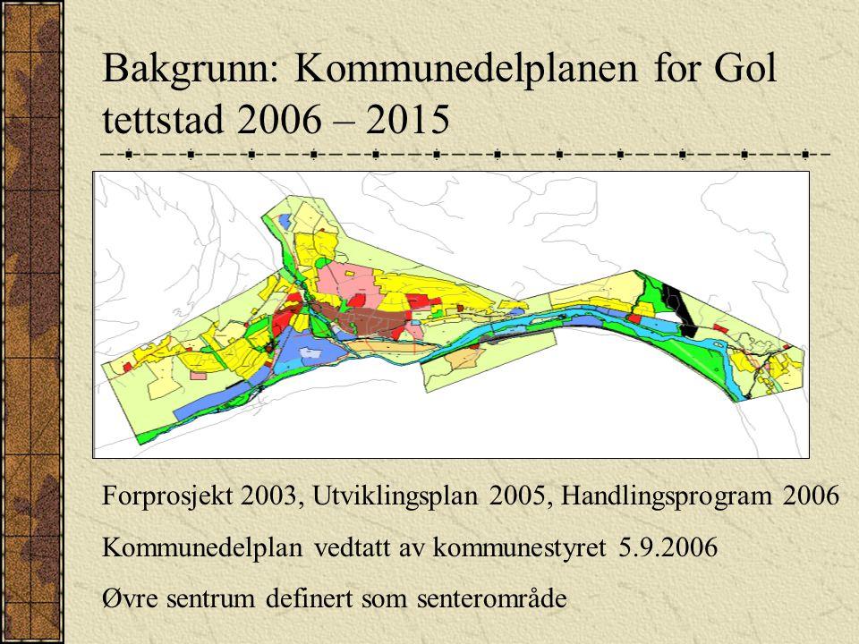 Bakgrunn: Kommunedelplanen for Gol tettstad 2006 – 2015