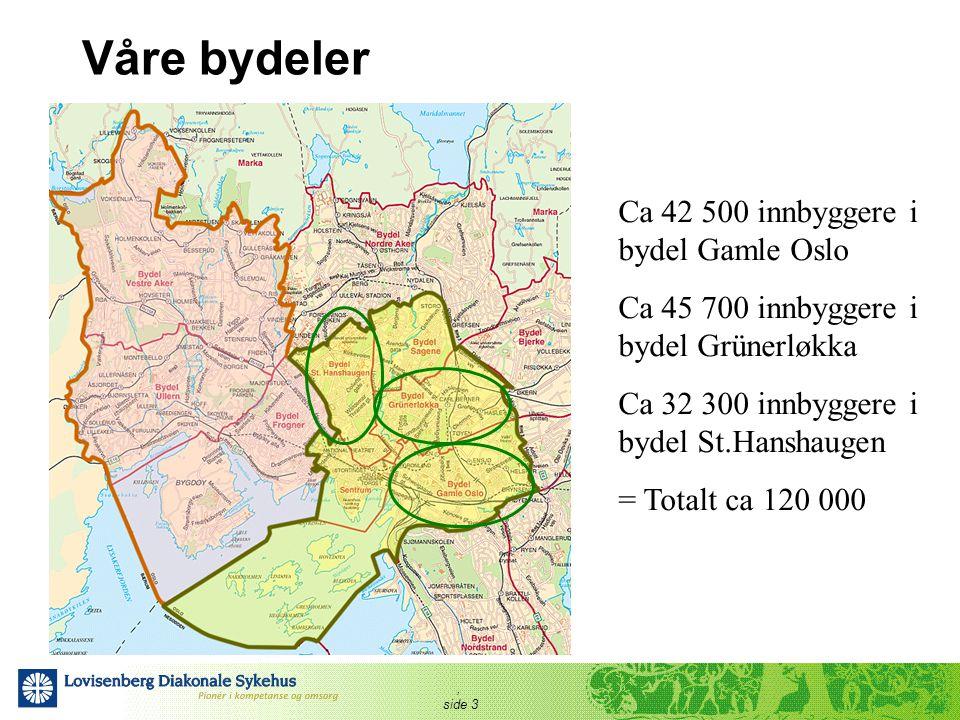 Våre bydeler Ca 42 500 innbyggere i bydel Gamle Oslo