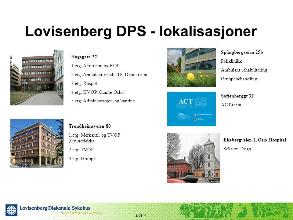 Lovisenberg DPS - lokalisasjoner