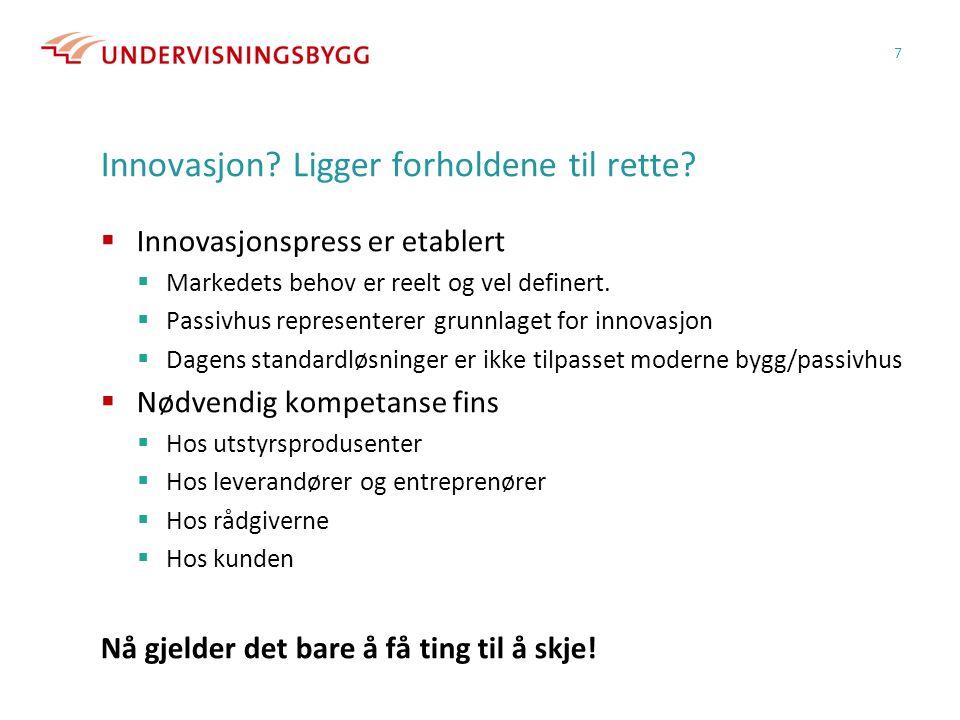 Innovasjon Ligger forholdene til rette