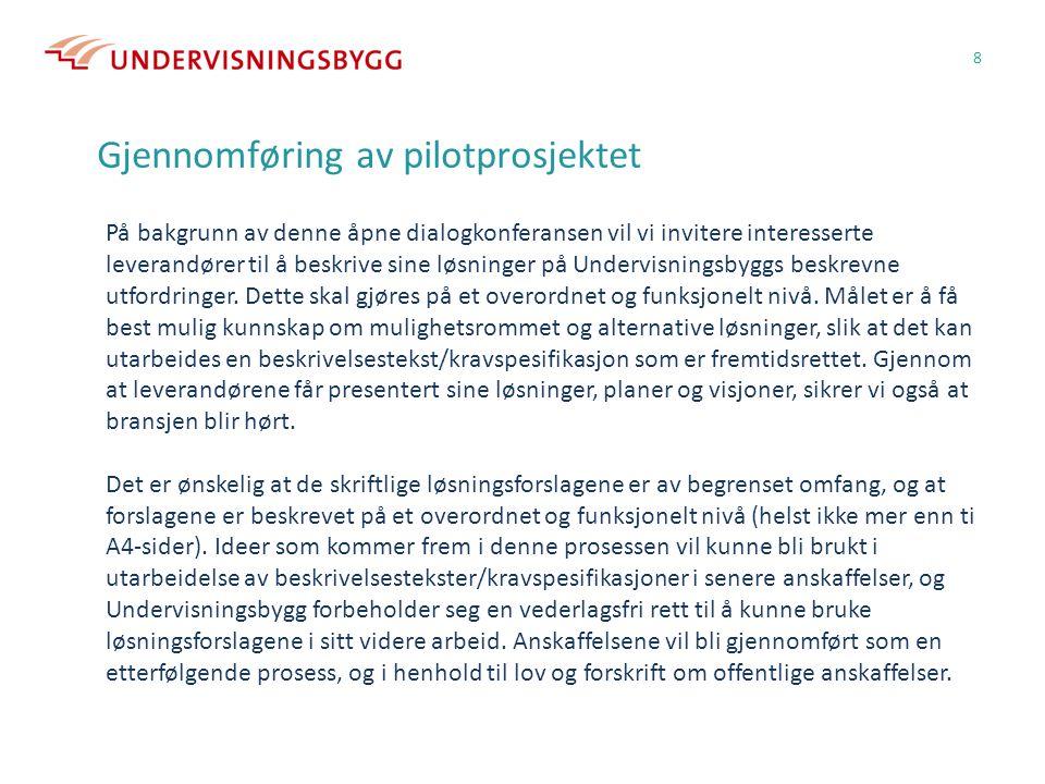 Gjennomføring av pilotprosjektet