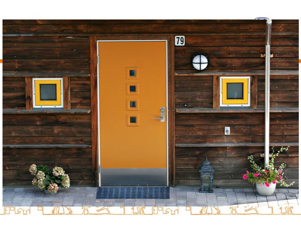 Hvert hus har sin farge slik at det er enkelt å finne hjem.