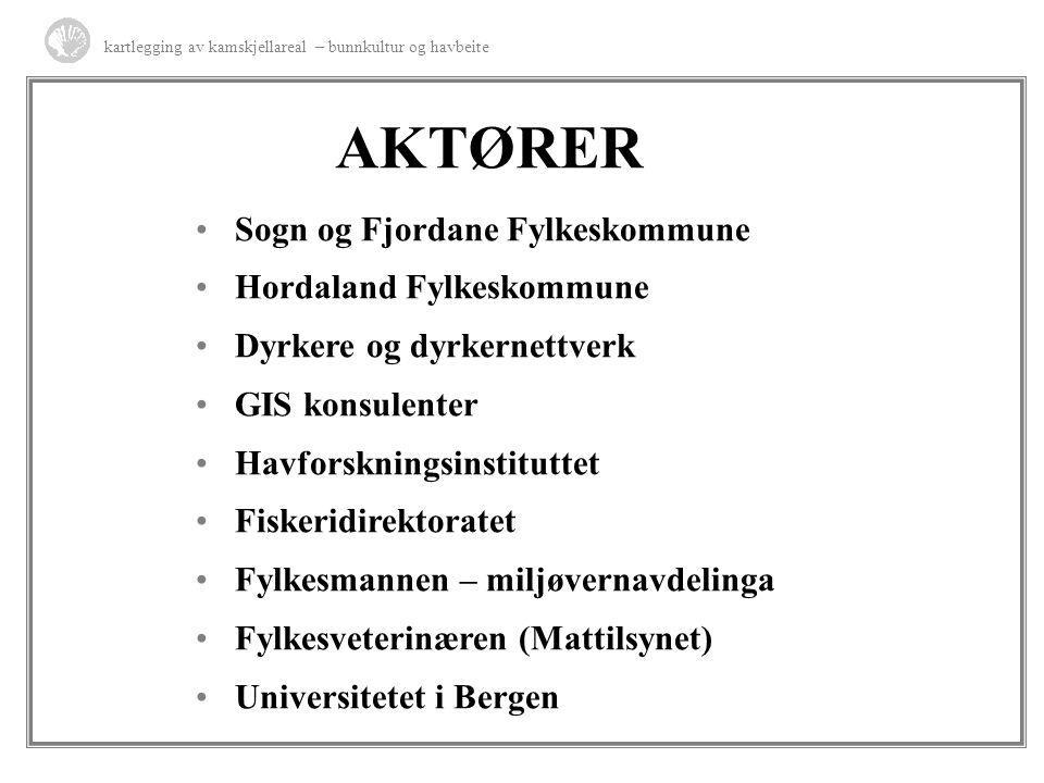 AKTØRER Sogn og Fjordane Fylkeskommune Hordaland Fylkeskommune