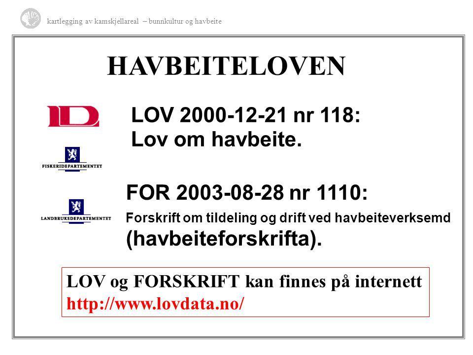 HAVBEITELOVEN LOV 2000-12-21 nr 118: Lov om havbeite.