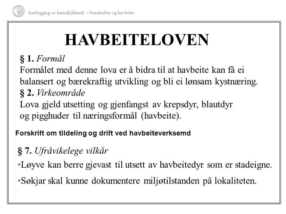HAVBEITELOVEN § 1. Formål