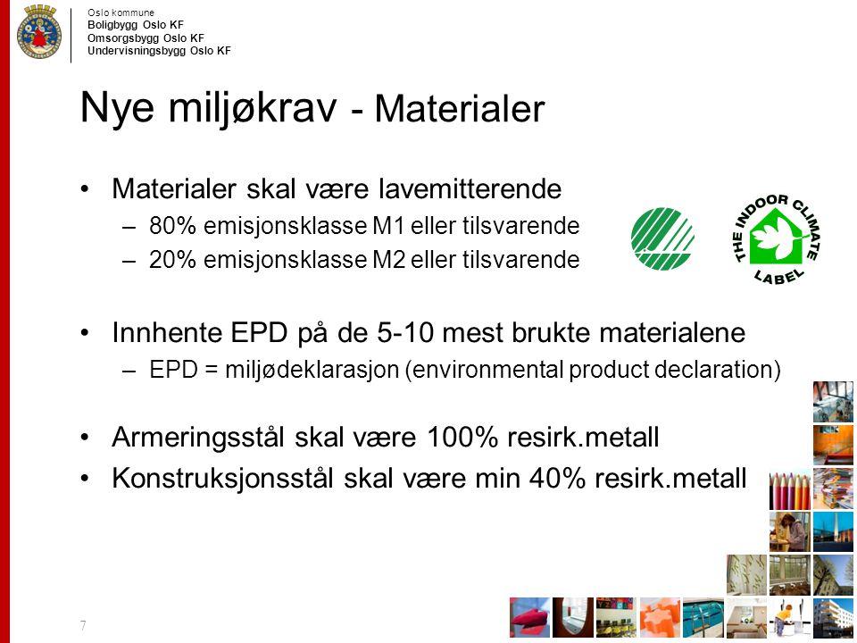Nye miljøkrav - Materialer