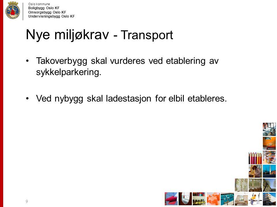 Nye miljøkrav - Transport