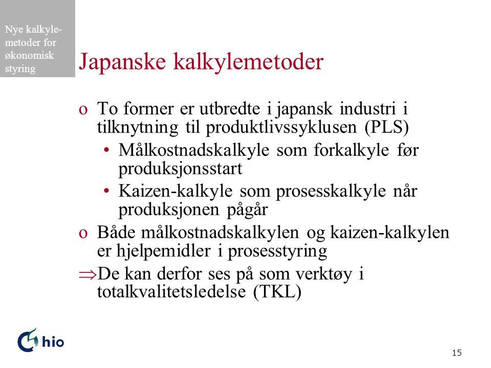Japanske kalkylemetoder