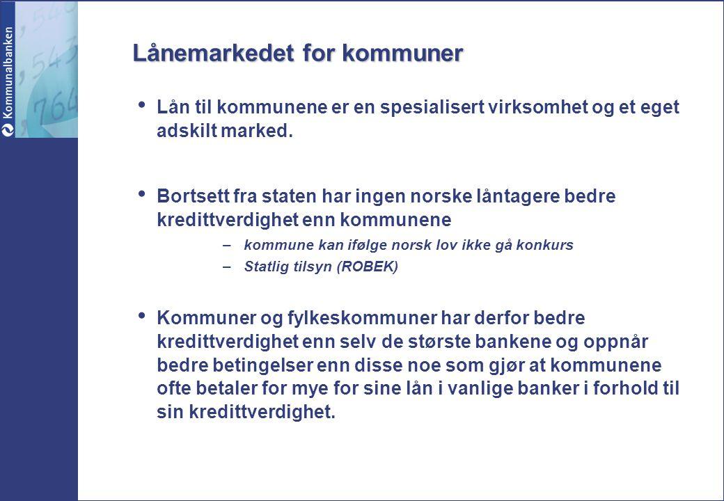 Lånemarkedet for kommuner