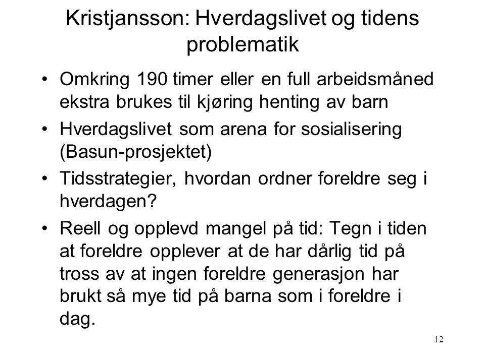 Kristjansson: Hverdagslivet og tidens problematik