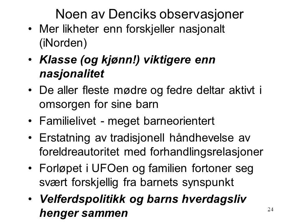Noen av Denciks observasjoner