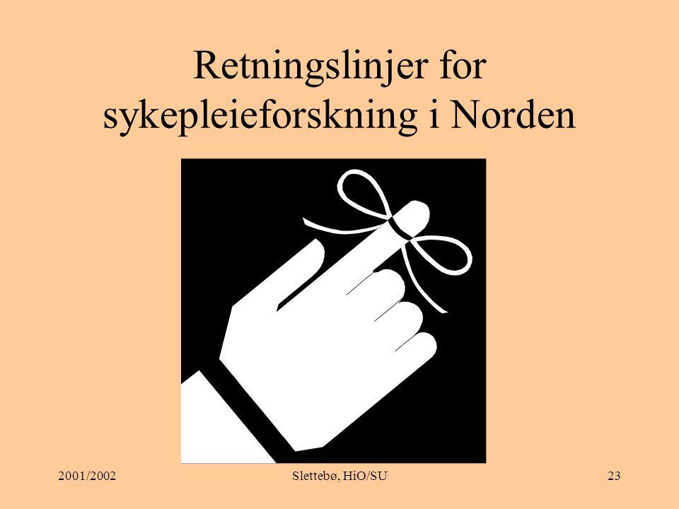 Retningslinjer for sykepleieforskning i Norden