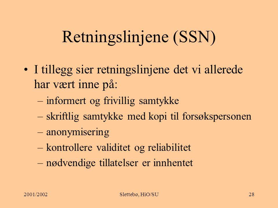 Retningslinjene (SSN)