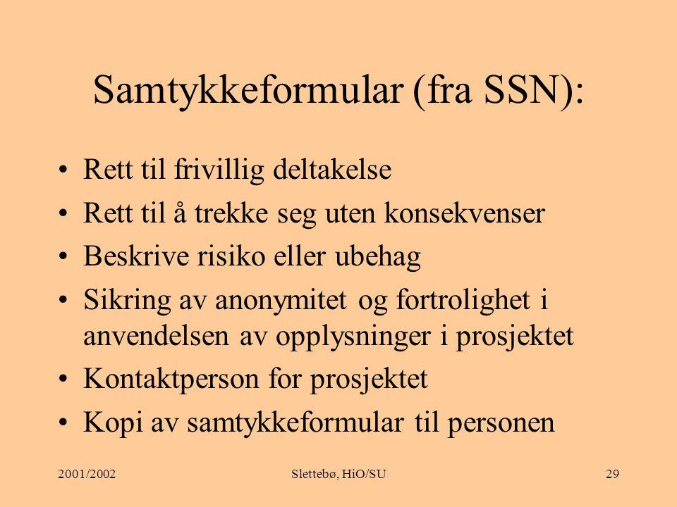 Samtykkeformular (fra SSN):