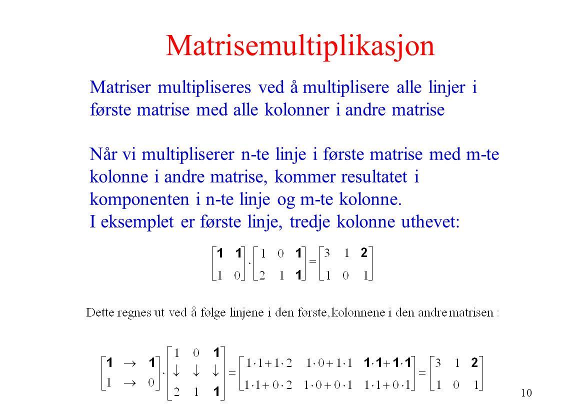 Matrisemultiplikasjon