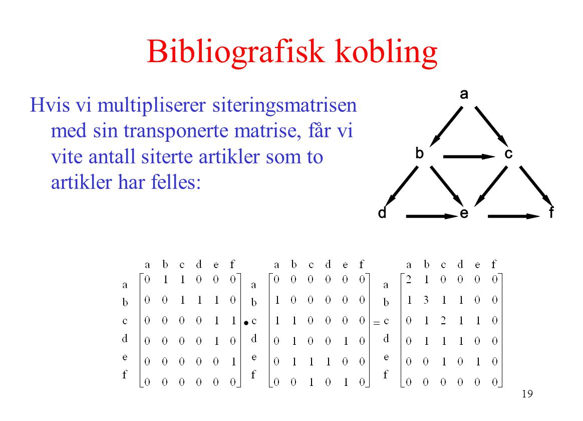 Bibliografisk kobling