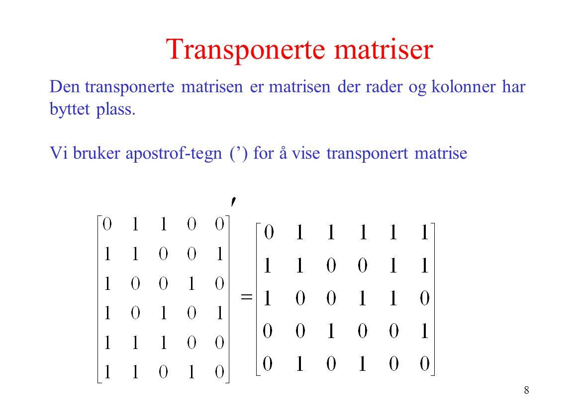 Transponerte matriser