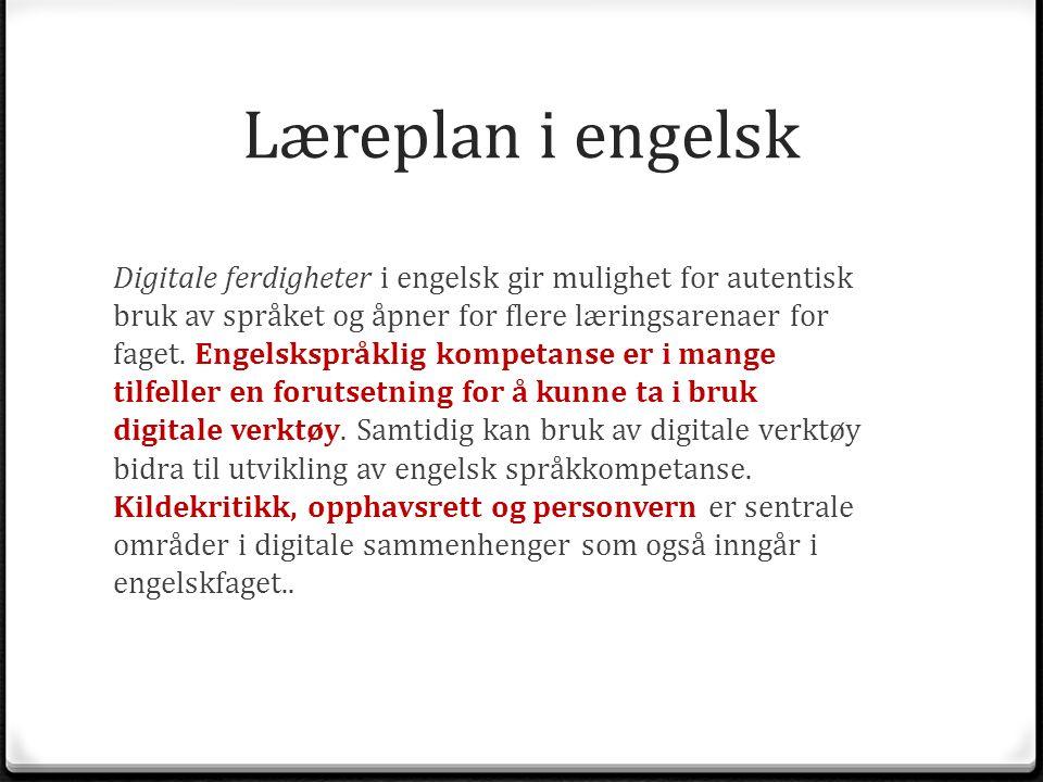 Læreplan i engelsk